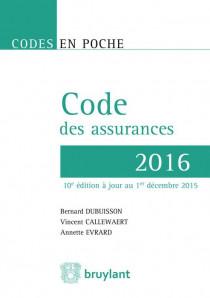 Code des assurances - 2016