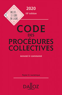 Code des procédures collectives 2020