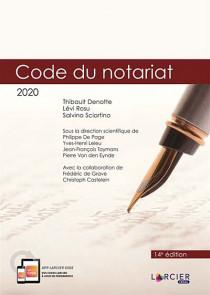 Code du notariat 2020, 2 volumes