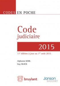 Code judiciaire 2015