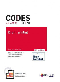 Codes annotés 2020 - Droit familial