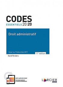 Codes essentiels 2020 - Droit administratif