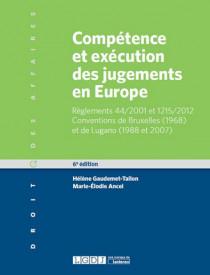 [EBOOK] Compétence et exécution des jugements en Europe