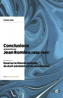 Conclusions prononcées par Jean Romieu (1888-1907)