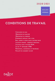 Conditions de travail 2020-2021