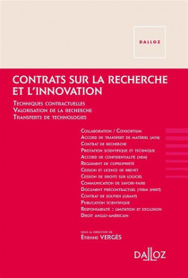 Contrats sur la recherche et l'innovation