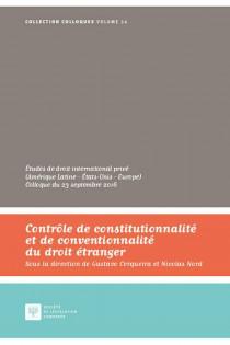 Contrôle de constitutionnalité et de conventionnalité du droit étranger