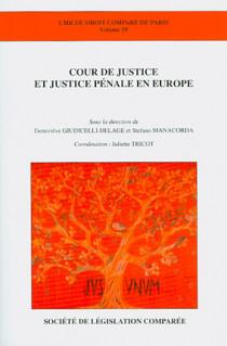 Cour de justice et justice pénale en Europe