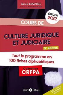 Cours de culture juridique et judiciaire - Édition 2022
