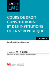 [EBOOK] Cours de droit constitutionnel et des institutions de la Ve République