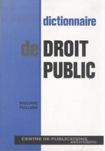 Dictionnaire de droit public