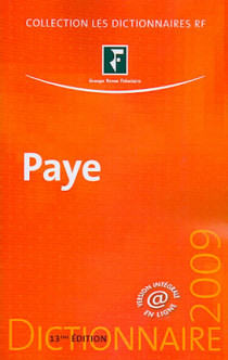 Dictionnaire paye 2009