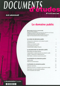 Documents d'études : droit administratif, édition 2004 N°2.12