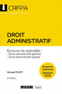 [EBOOK] Droit administratif - CRFPA - Examen national Session 2020