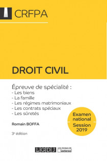 Droit civil - CRFPA - Examen national Session 2019