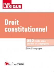 [EBOOK] Droit constitutionnel