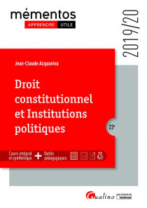 Droit constitutionnel et institutions politiques [EBOOK]