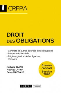[EBOOK] Droit des obligations - CRFPA - Examen national Session 2020