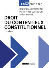 [EBOOK] Droit du contentieux constitutionnel