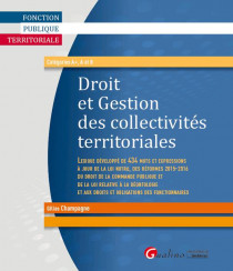 Droit et gestion des collectivités territoriales