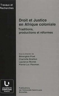 Droit et justice en Afrique coloniale