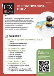 Droit international public (fascicule)