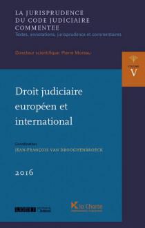Droit judiciaire européen et international 2016