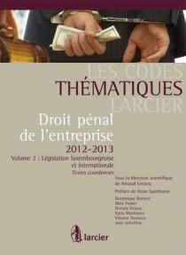 Droit pénal de l'entreprise 2012-1013