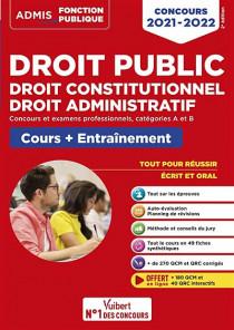 Droit public : droit constitutionnel, droit administratif - Concours 2021-2022
