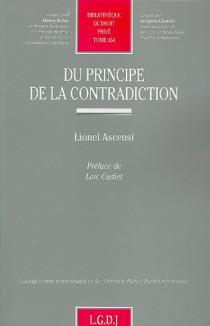 Du principe de la contradiction