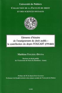 Éléments d'histoire de l'enseignement du droit public