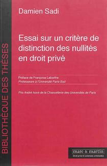 Essai sur un critère de distinction des nullités en droit privé
