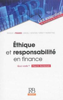 Ethique et responsabilité en finance