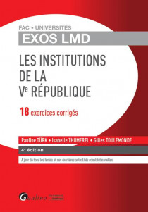 [EBOOK] Exos LMD - Les Institutions de la Ve République