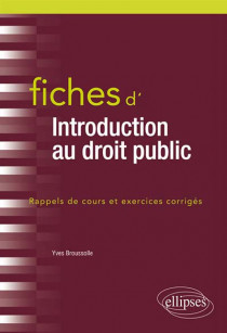 Fiches d'introduction au droit public