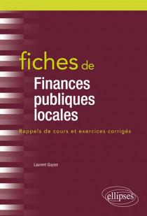 Fiches de finances publiques locales