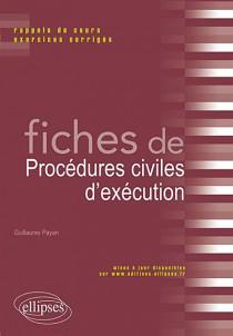 Fiches de procédures civiles d'exécution