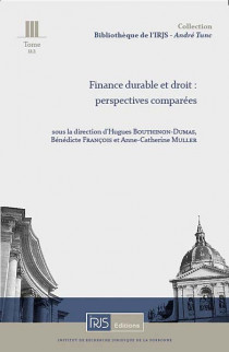 Finance durable et droit : perspectives comparées