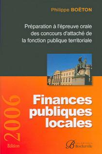 Finances publiques locales - Edition  2006