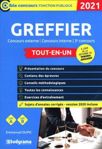 Greffier : concours externe, concours interne, 3e concours 2021