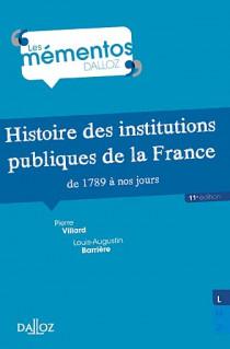 Histoire des institutions publiques de la France