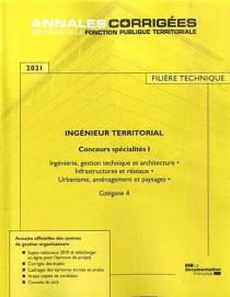 Ingénieur territorial, concours spécialité I, filière technique 2021