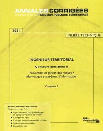 Ingénieur territorial, concours spécialité II, filière technique 2021