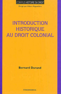 Introduction historique au droit colonial