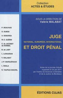 Juge national, européen, international et droit pénal