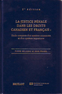 Justice pénale dans les droits canadiens et français