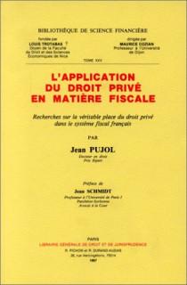 L'application du droit privé en matière fiscale