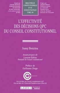 L'effectivité des décisions QPC du Conseil constitutionnel
