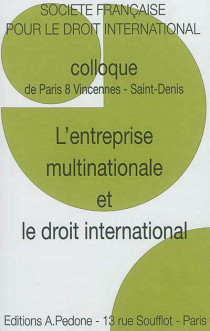 L'entreprise multinationale et le droit international