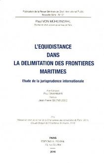L'équidistance dans la délimitation des frontières maritimes